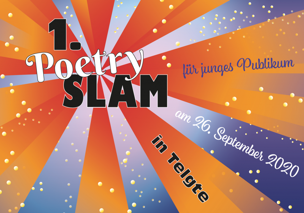 """Slamerey in Telge"" - 1. Telgter Poetry Slam für junges Publikum am 26. September"