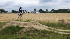 Mountainbiker on tour